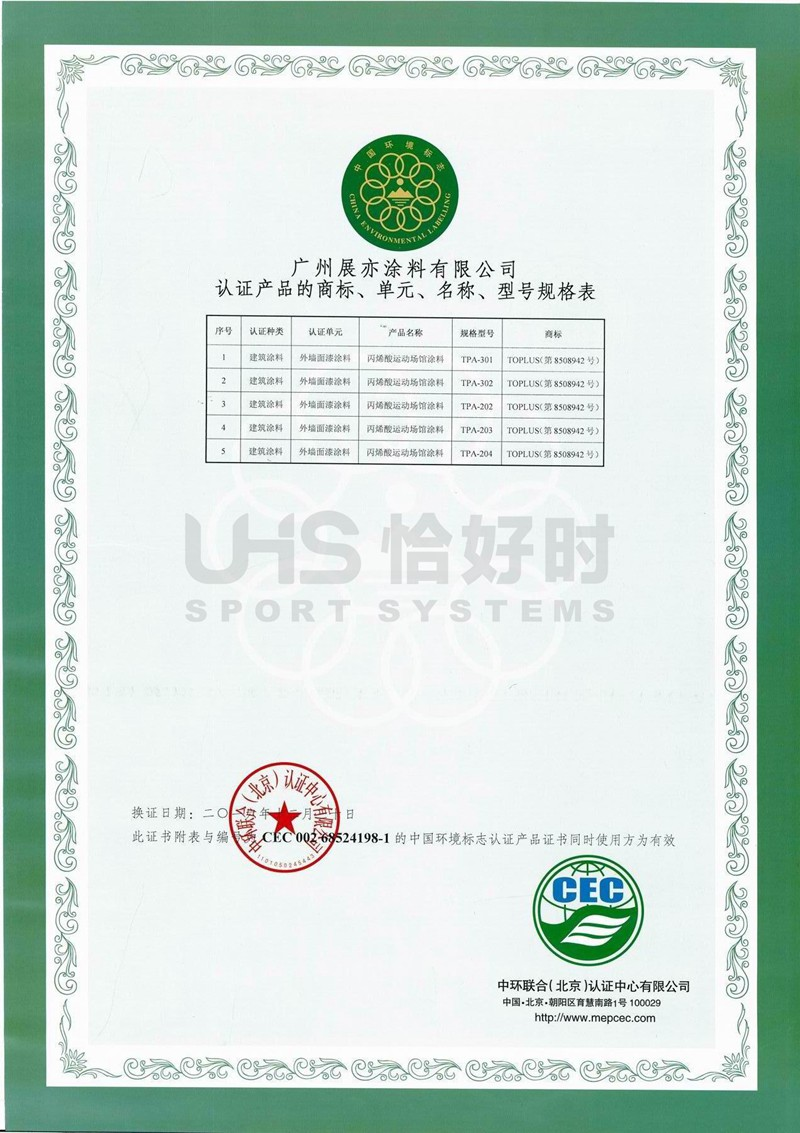 绿十环证书